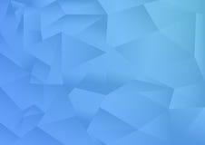 O fundo do sumário do teste padrão do polígono, tema azul, vetor, ilustração, espaço da cópia para o texto Imagens de Stock