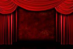 O fundo do teatro vermelho do estágio drapeja ilustração stock