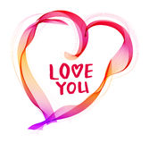 O fundo do Valentim bonito com coração da cor e t abstratos Foto de Stock Royalty Free
