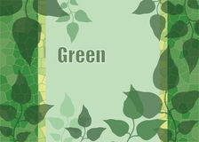 O fundo do verde sae à área para escrever o texto Foto de Stock