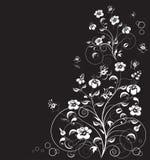 O fundo do vetor com flores decorativas Ilustração do vetor ilustração do vetor