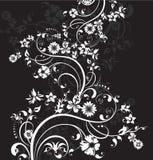 O fundo do vetor com flores decorativas Ilustração do vetor ilustração stock