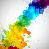 O fundo do vetor de Holi, pintura colorida abstrata do respingo borra ilustração do vetor