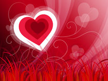 O fundo dos corações mostra o amor da natureza ou a paisagem calma Imagem de Stock