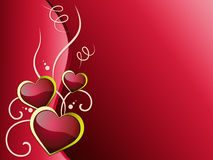 O fundo dos corações significa a paixão e o amor do romanticismo Fotografia de Stock Royalty Free