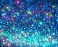 O fundo dos raios de brilho brilhantes no azul fotos de stock royalty free