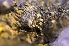 O fundo dourado para você projeta, gema macro da foto Fotos de Stock