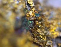 O fundo dourado para você projeta a gema macro da foto Imagens de Stock