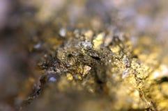 O fundo dourado para você projeta a gema macro da foto Fotografia de Stock Royalty Free
