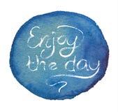 O fundo e a mensagem da aquarela apreciam o dia ilustração royalty free