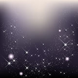 O fundo elegante do Natal com estrelas e brilha Fotos de Stock Royalty Free
