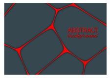 O fundo escuro geométrico volumétrico com esboço expulsa efeito Fundo abstrato do vetor 3d Imagens de Stock