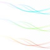 O fundo fresco da mola acena swooshes coloridos da pena brilhante ilustração royalty free