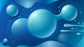 O fundo futuro Esferas translúcidas luminosas Tons macios do inclinação Teste padr?o geom?trico colorido ilustração do vetor