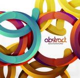 O fundo geométrico moderno do estilo 3d, arqueia linhas circulares Imagens de Stock