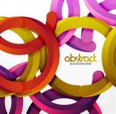 O fundo geométrico moderno do estilo 3d, arqueia linhas circulares Fotografia de Stock Royalty Free
