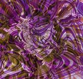 O fundo, linhas onduladas coloridas é torcido linhas brilhantemente coloridas roxas, papéis de parede brancos, marrons, azuis, ro Fotos de Stock Royalty Free