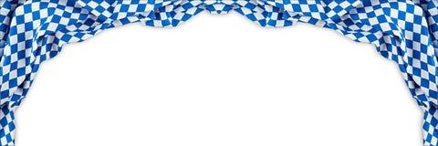 O fundo o mais oktoberfest do panorama largo bávaro da bandeira foto de stock royalty free