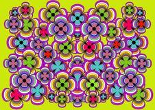 O fundo muito brilhante e alegre de flores coloridas Fotografia de Stock Royalty Free