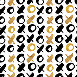 O fundo na moda sem emenda do blogue textures com o ouro tirado mão Fotos de Stock Royalty Free