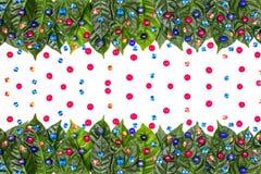 O fundo natural do feriado com verde sae em um fundo branco Fotos de Stock Royalty Free