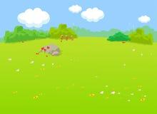 O fundo natural dos desenhos animados da paisagem Imagens de Stock Royalty Free
