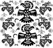 O fundo original com tatuagens dos pássaros Fotografia de Stock Royalty Free