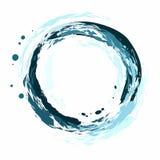 O fundo original e criativo do redemoinho, o fluxo da água, água clara e pura azul Foto de Stock