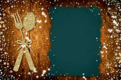 O fundo para escreve o menu do Natal Fotografia de Stock