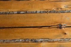 O fundo, placas de madeira rachou a casa velha da vila Imagem de Stock