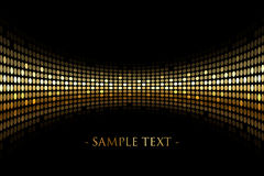 O fundo preto com ouro ilumina-se com espaço para seu tex Fotografia de Stock Royalty Free