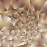 O fundo quadrado poligonal irregular do vetor - baixo teste padrão poli do triângulo - aumentou cor marrom bege do rosa do ouro ilustração do vetor