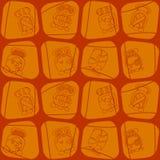 O fundo sem emenda com calendário do Maya nomeou meses e associou glyphs ilustração royalty free