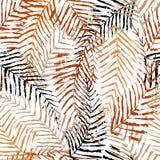 O fundo sem emenda com ramos e folhas de árvore, modela com cursos da escova e espirra ilustração do vetor