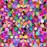 O fundo sem emenda do arco-íris do mosaico com grunge colorido circunda ilustração royalty free