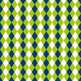 O fundo sem emenda do arlequim do diamante do verde-lima e do azul modela a textura Foto de Stock Royalty Free