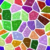 O fundo sem emenda do mosaico de mármore de superfície do assoalho com branco reboca - espectro do arco-íris da cor completa - ve ilustração do vetor