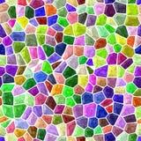 O fundo sem emenda do mosaico de superfície do mármore do assoalho com branco reboca - o espectro do arco-íris da cor completa ilustração royalty free