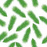 O fundo sem emenda do Natal com ramos verdes enfeita-se ilustração do vetor