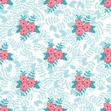 O fundo sem emenda floral do teste padrão da mola do vetor sae de flores ilustração royalty free