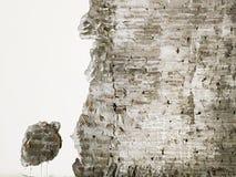 O fundo textured da superfície velha da parede de tijolo vermelho Emplastro gasto de dano da fachada na frente da parede Copie o  ilustração stock