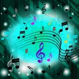 O fundo verde da música significa CD de Jazz Soul Or Fotografia de Stock