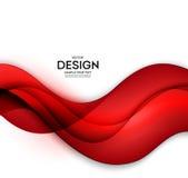 O fundo vermelho do sumário do molde do vetor com curvas alinha Para o inseto, o folheto, a brochura e os Web site projetam Fotos de Stock Royalty Free
