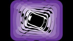 O fundo video abstrato com retângulo ultravioleta morphing dá forma no fundo preto vídeos de arquivo