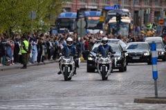 O funeral de estado da ex-presidente de Finlandia Mauno Koivisto Fotos de Stock Royalty Free