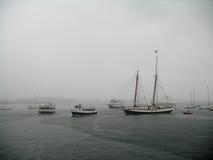 O furacão Irene embebe o porto de Boston Foto de Stock Royalty Free