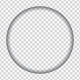 O furo cortou na forma de um círculo com sombra Fotografia de Stock Royalty Free