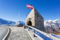 O Fuscher Törl na estrada alpina de Grossglockner, Salzburg, Áustria Fotografia de Stock Royalty Free