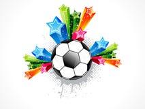 O futebol abstrato explode Imagem de Stock