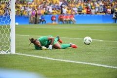 O futebol Brasil das mulheres Fotografia de Stock